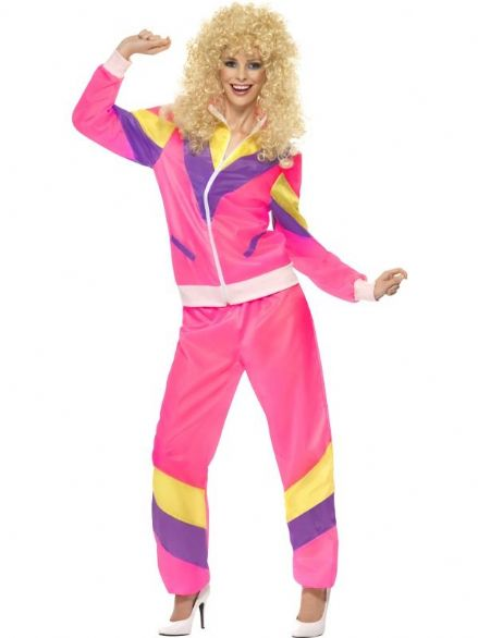1980's Pink Shell Suit Costume